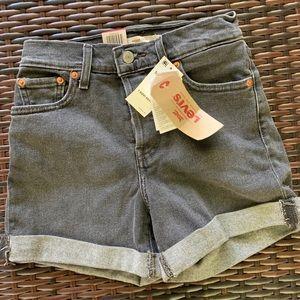 Black Levi jean shorts